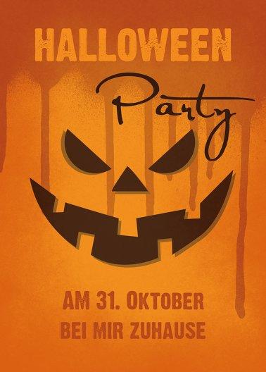 Ansicht 2 - Halloweenkarte Kürbis