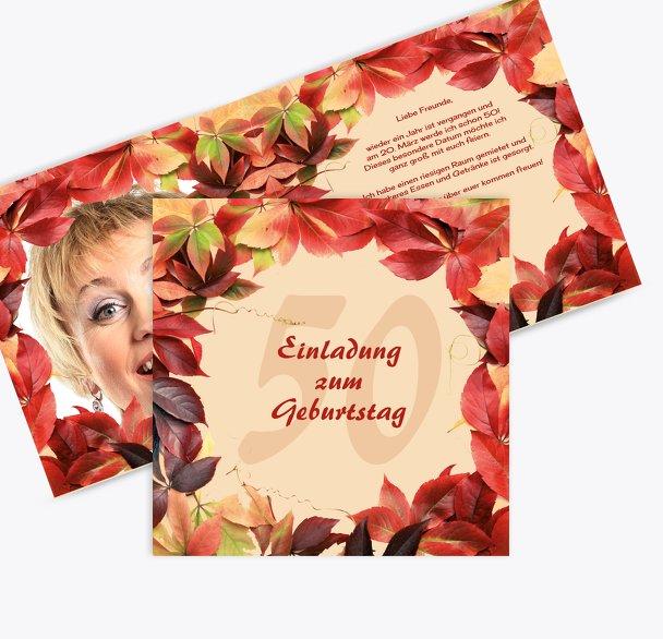 Einladungskarte Blumentraum 50 Foto