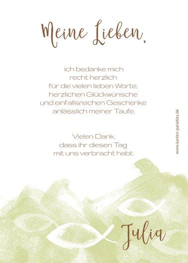 Ansicht 3 - Taufe Dankeskarte Aquarelltraum