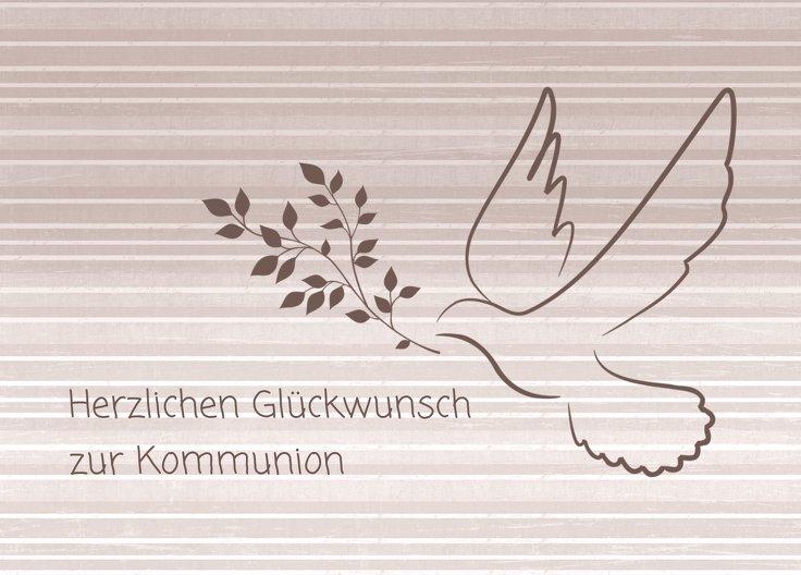 Ansicht 2 - Glückwünsche zur Kommunion Taube 2