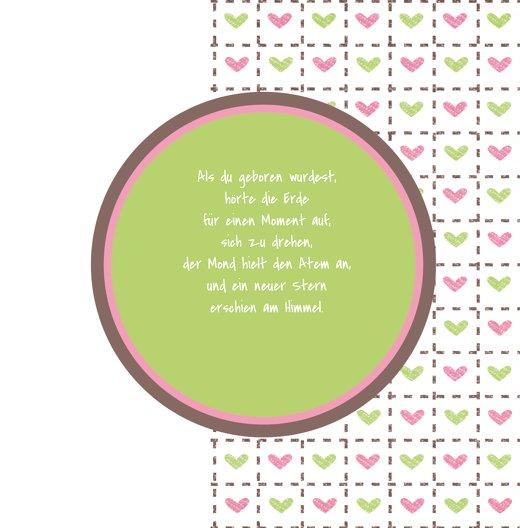 Ansicht 4 - Babykarte Herzrahmen