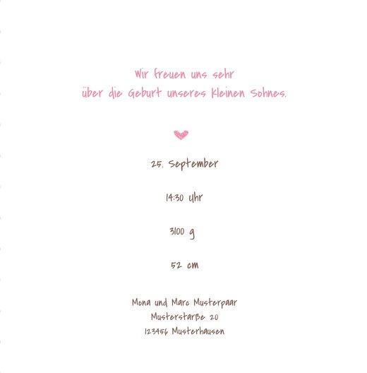 Ansicht 5 - Babykarte Herzrahmen