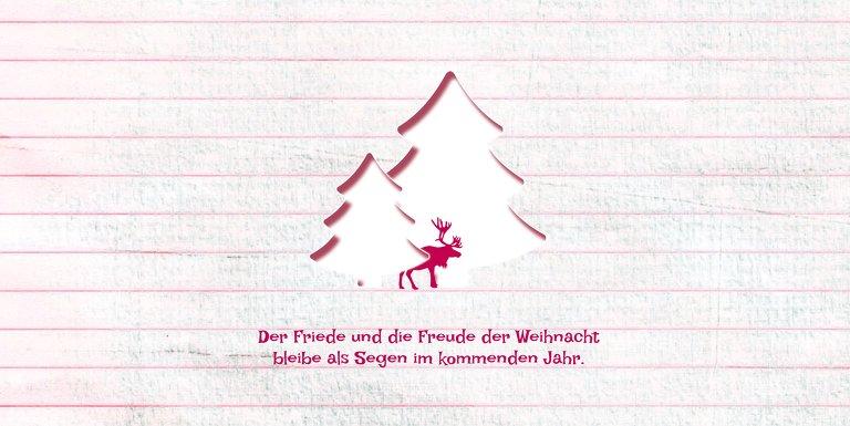 Ansicht 4 - Grußkarte Elchenwald
