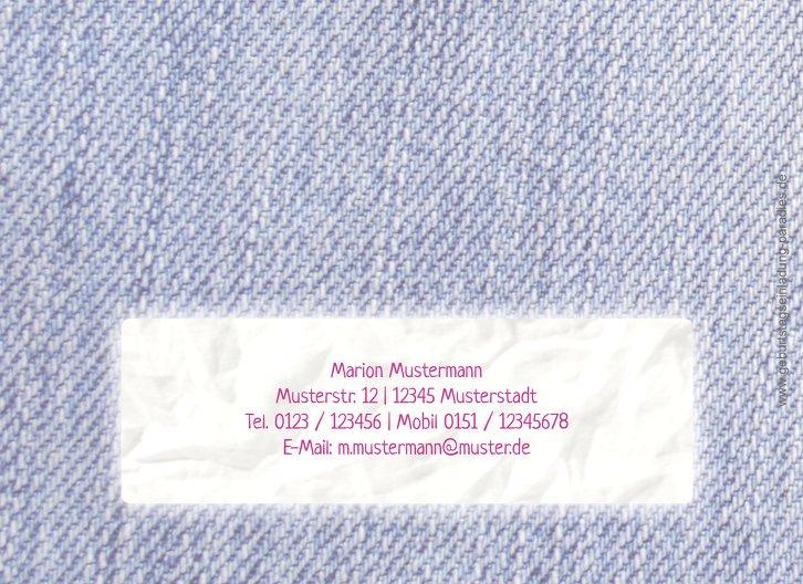 Ansicht 2 - Einladungskarte Waschzettel 50