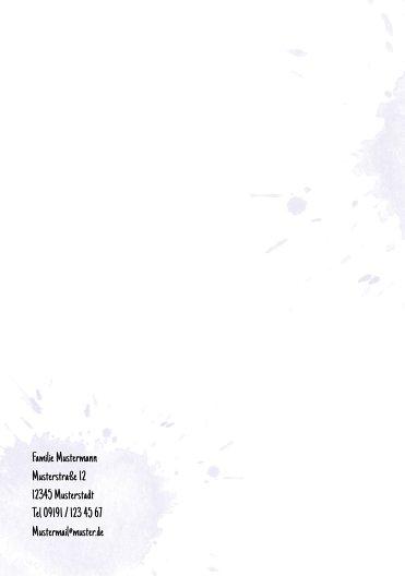 Ansicht 2 - Taufe Einladungskarte Origamischiff
