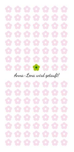 Ansicht 3 - Taufkarte Blumentapete