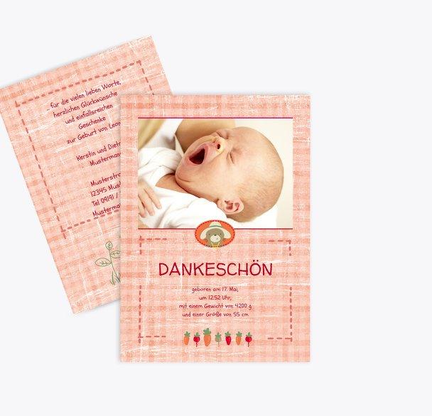 Baby Dankeskarte Paper