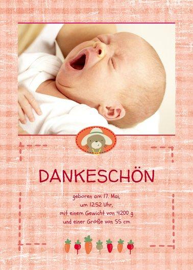 Ansicht 2 - Baby Dankeskarte Paper