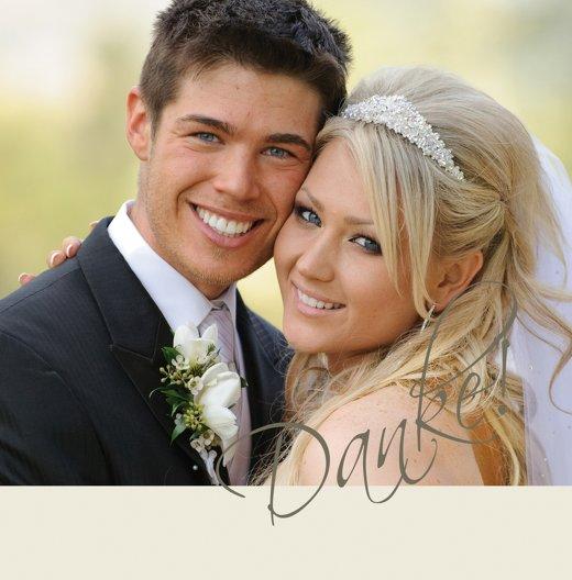 Ansicht 3 - Hochzeit Dankeskarte Liebesbotschaft