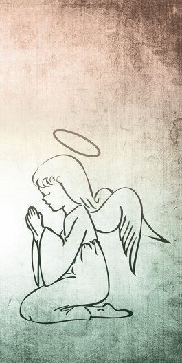 Ansicht 2 - Kommunionskarte grunge Engel