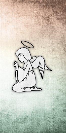 Ansicht 7 - Kommunionskarte grunge Engel