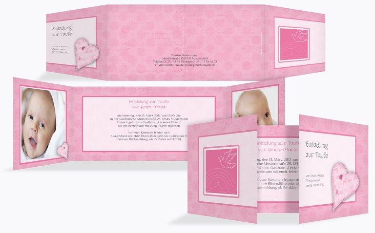 Taufkarte Bubblehearts