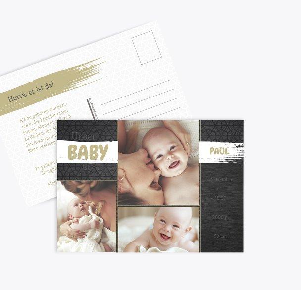 Geburtskarte Schiefer