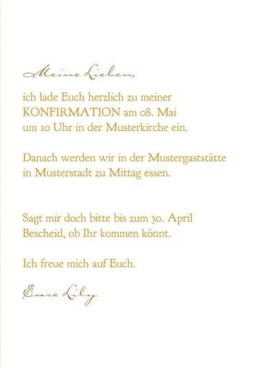 Ansicht 5 - Konfirmation Einladung Goldrausch
