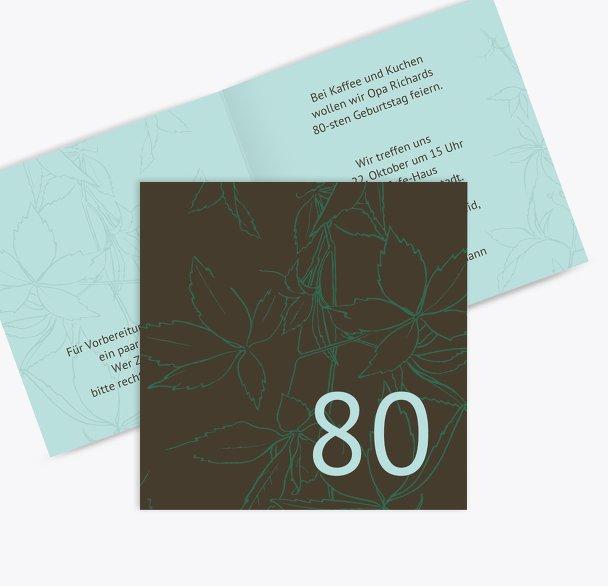 Einladung Herbst 80