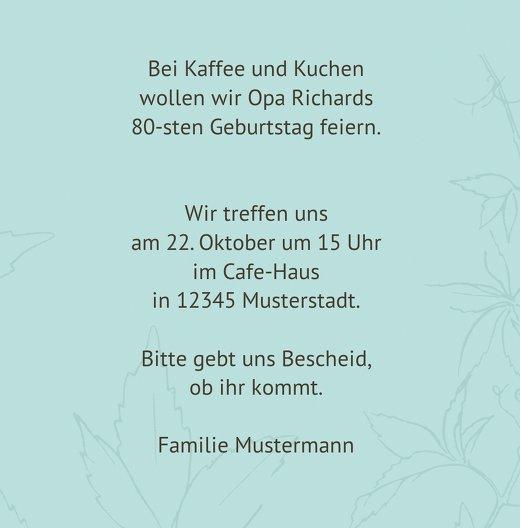 Ansicht 5 - Einladung Herbst 80