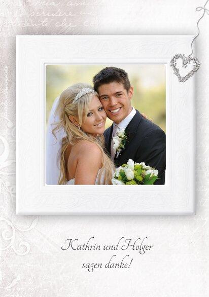 Ansicht 4 - Hochzeit Dankeskarte glamour heart