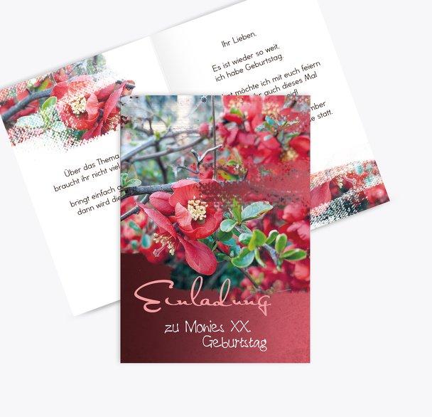 Geburtstagskarten Blüten