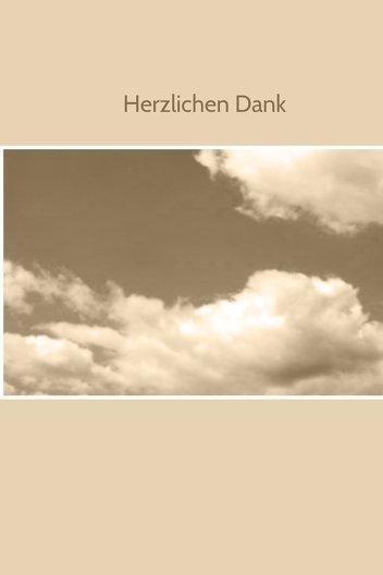 Ansicht 3 - Dankeskarte Wolken