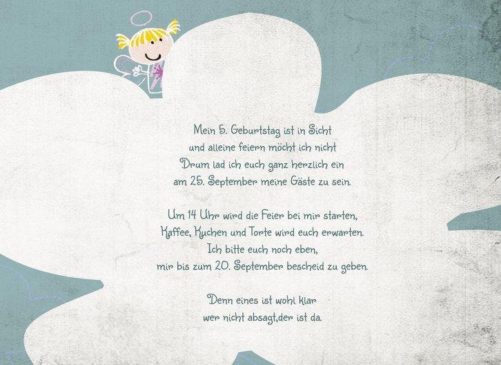 Ansicht 5 - Geburtstagseinladung Engelchen Foto