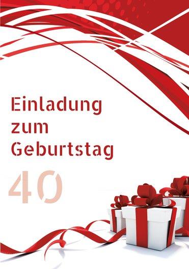 Ansicht 3 - Geburtstag Schleifenband 40