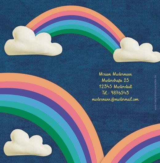 Ansicht 2 - Dankeskarte Regenbogenfantasie