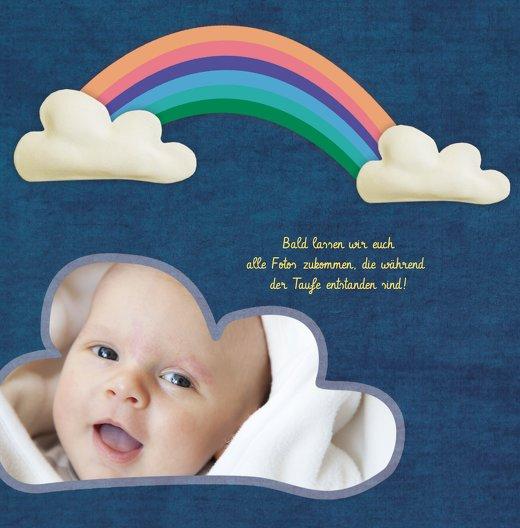 Ansicht 4 - Dankeskarte Regenbogenfantasie