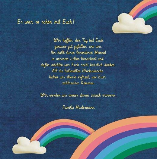 Ansicht 5 - Dankeskarte Regenbogenfantasie