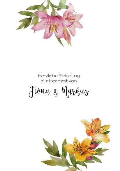 Ansicht 3 - Hochzeit Einladung Blumendeko