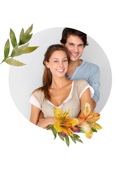 Ansicht 4 - Hochzeit Einladung Blumendeko