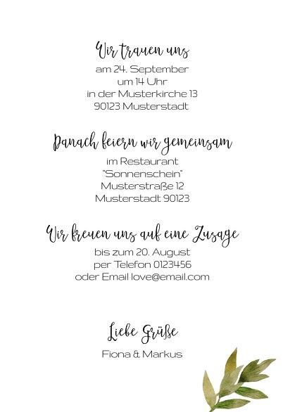 Ansicht 5 - Hochzeit Einladung Blumendeko