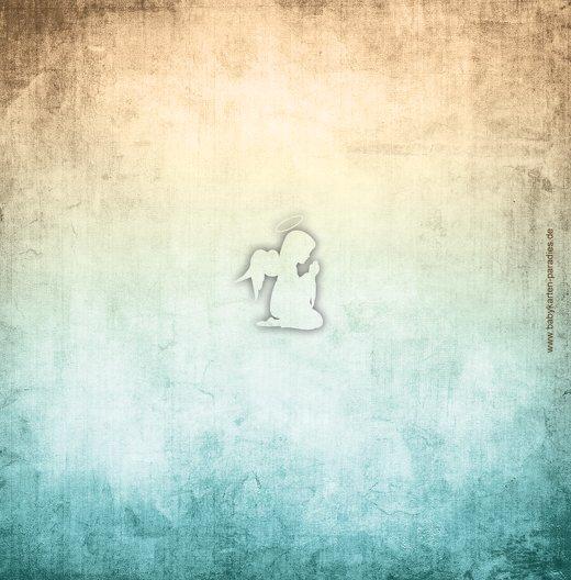 Ansicht 2 - Dankeskarte grunge Engel