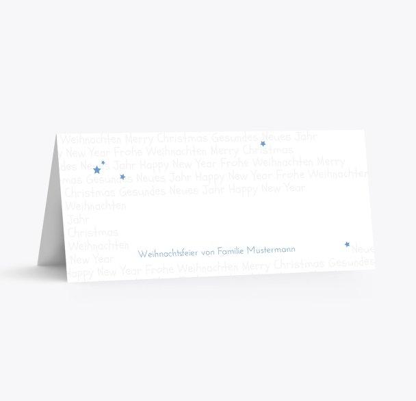 Tischkarte Schrift