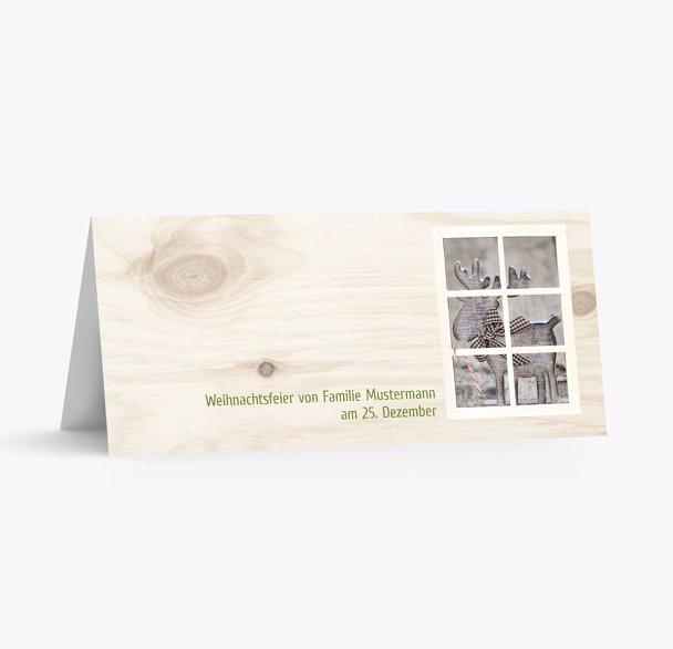 Tischkarte Holzelch