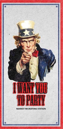 Ansicht 3 - Einladungskarte i want you