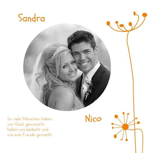 Ansicht 5 - Hochzeit Dankeskarte abstrakte Blumen