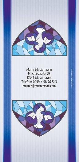 Ansicht 2 - Taufe Einladungskarte Kirchenfenster