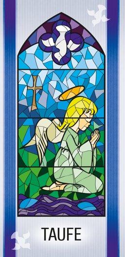 Ansicht 3 - Taufe Einladungskarte Kirchenfenster