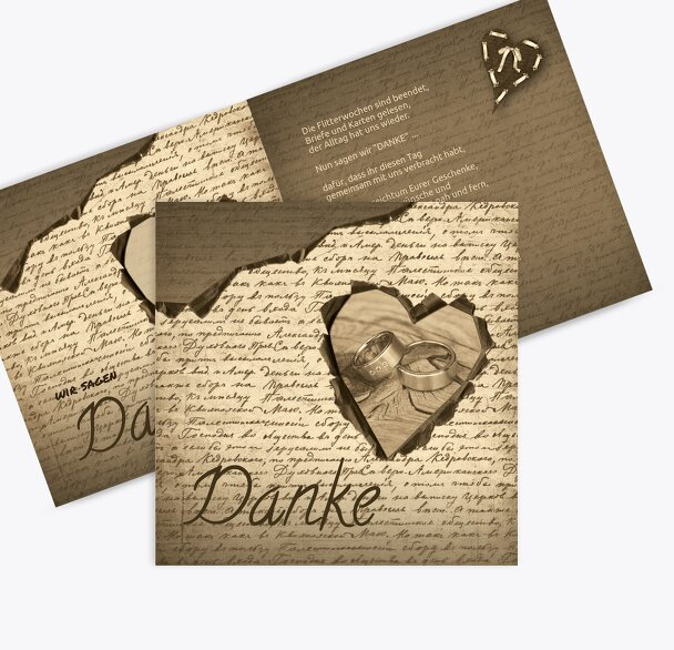 Hochzeit Dankeskarte 2 Herzensgedicht