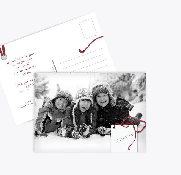 Foto Einladung Geschenkanhänger