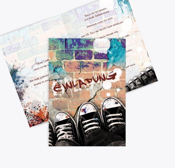 Geburtstagskarte Jugendliche Graffiti