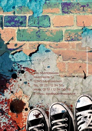 Ansicht 2 - Geburtstagskarte Jugendliche Graffiti