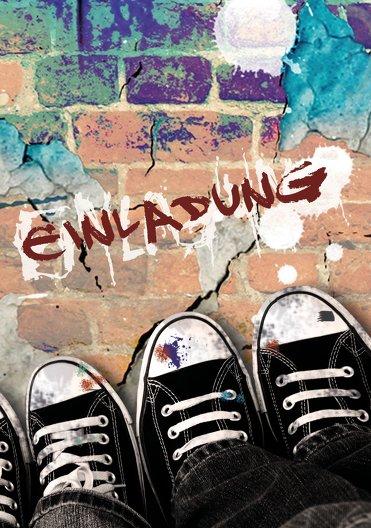 Ansicht 3 - Geburtstagskarte Jugendliche Graffiti