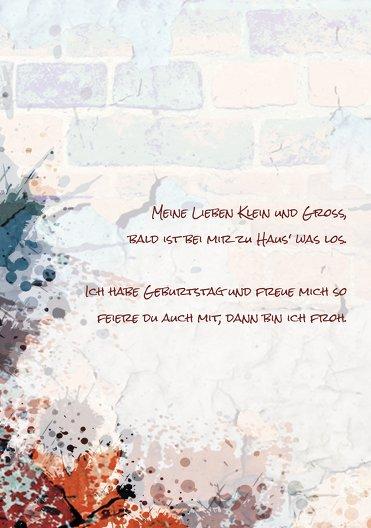 Ansicht 4 - Geburtstagskarte Jugendliche Graffiti
