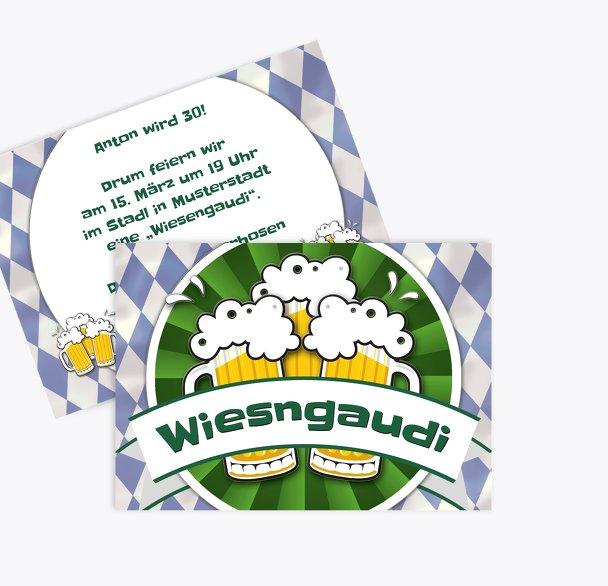 Geburtstagseinladung Wiesngaudi
