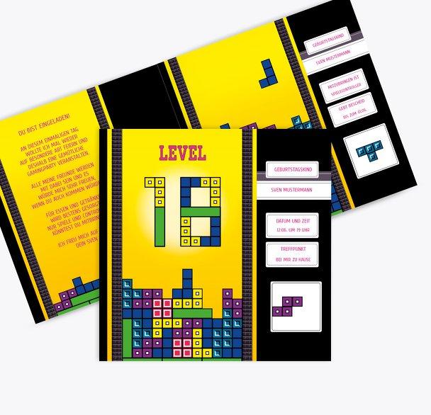Geburtstagskarte 8bit Game 18