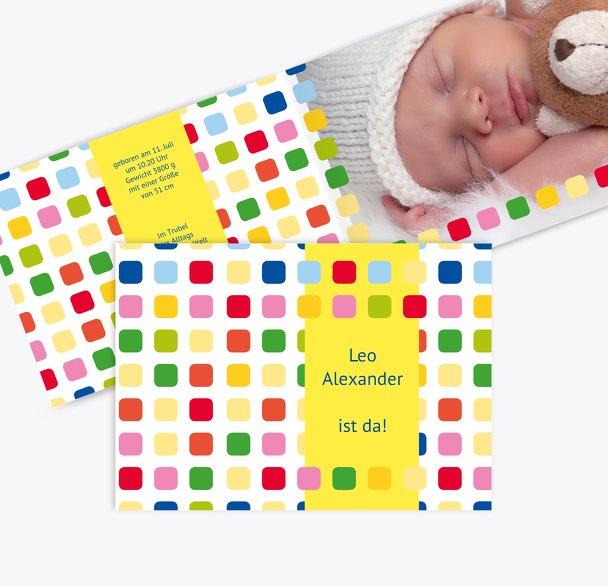 Geburtskarte Viereck