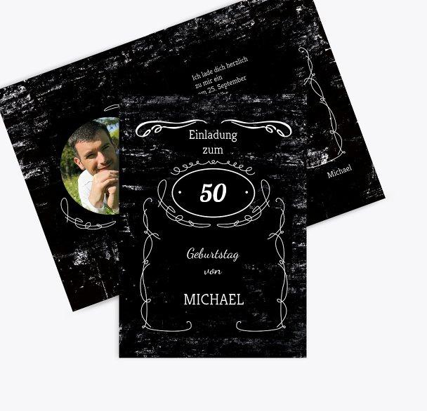 Geburtstagseinladung Jackcard 50 Foto