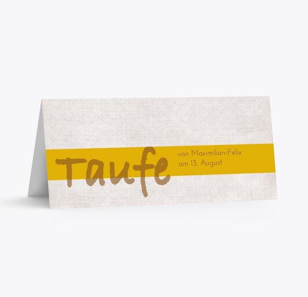 Taufe Tischkarte simply classic