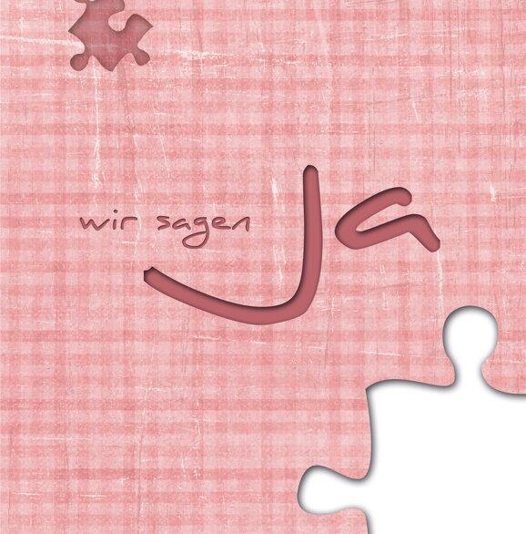 Ansicht 4 - Hochzeit Einladungskarte Puzzle